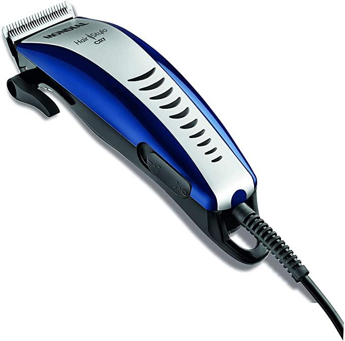 Cortador de Cabelos Hair Stylo Mondial CR-07, 127v, Azul/Prata