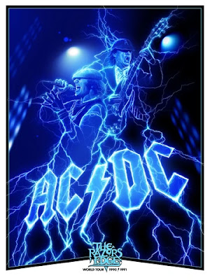"AC/DC ""The Razors Edge World Tour 1990/1991"" Screen Print Adam Stothard x ECHO"