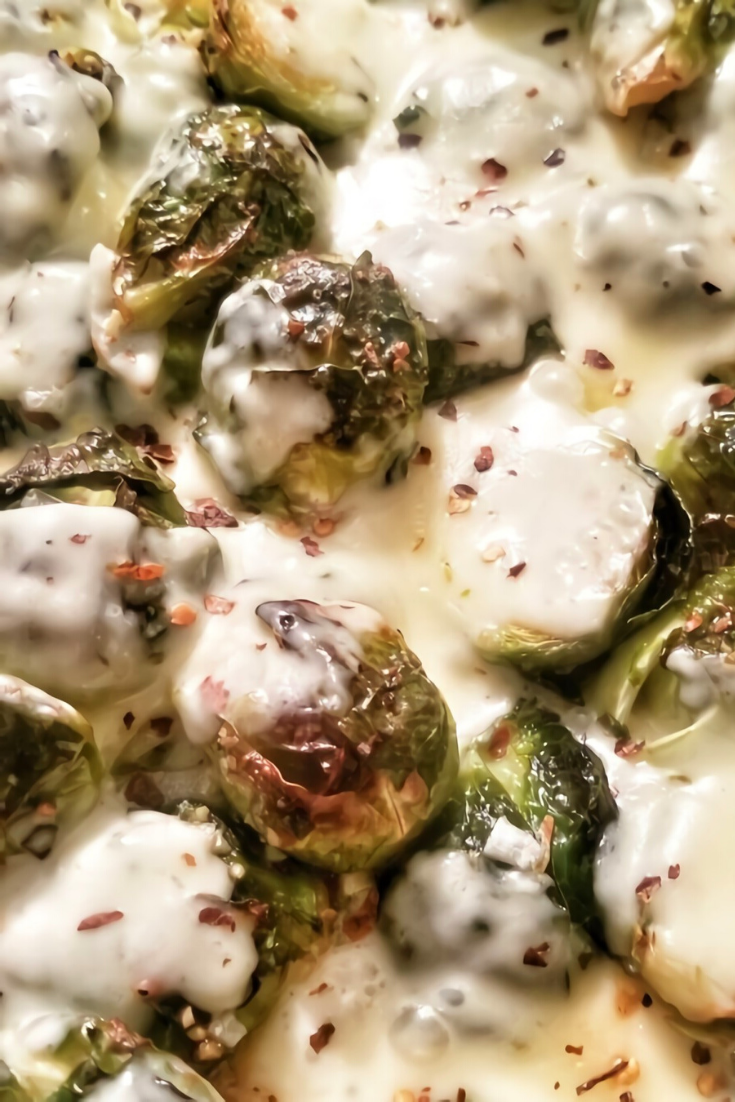 Cheesy Pepper Jack Roasted Brussels Sprouts Recipe