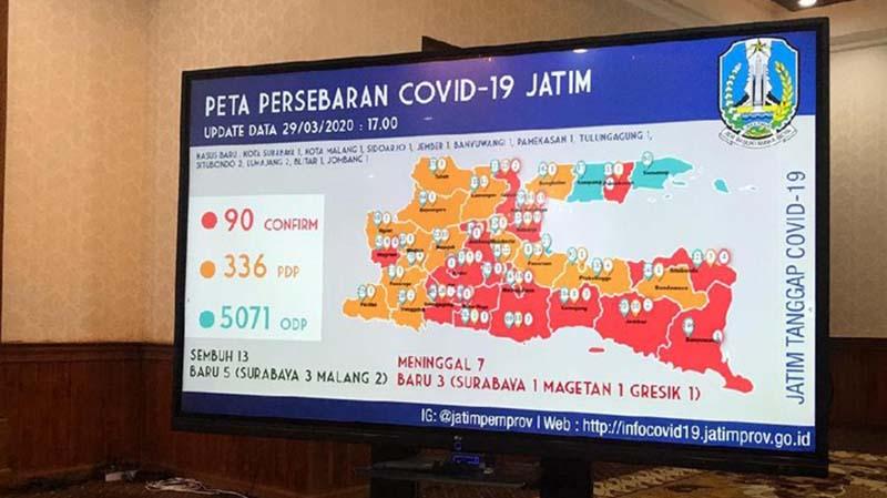 Zona Merah Corona di Jatim Bertambah, Total 18 Wilayah