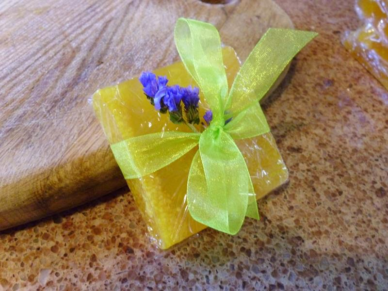 Wrapped lemon scented soap