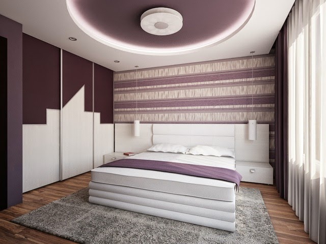 Bedroom false ceiling designs pop 2018 - built in modern LED ceiling lights