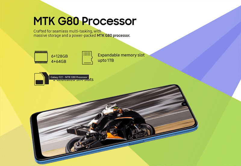 It features MediaTek's Helio G80 octa-core processor