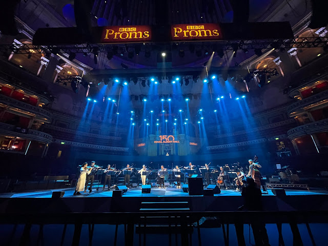 The Manchester Collective in rehearsal at the Royal Albert Hall for the BBC Proms (Photo c/o Manchester Collective)