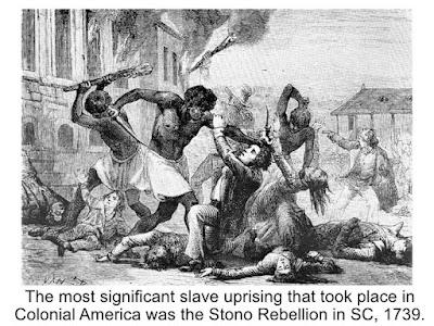 stono slave rebellion south carolina 1739
