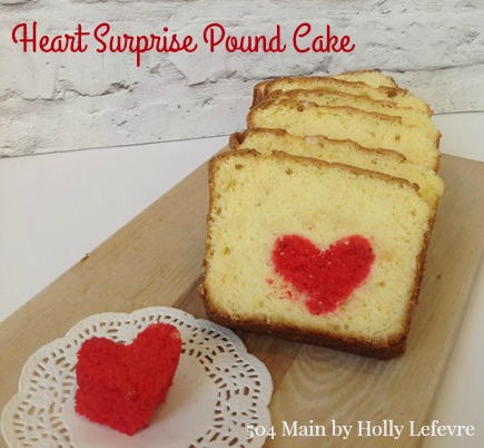 Heart Surprise Pound Cake from 504 Main