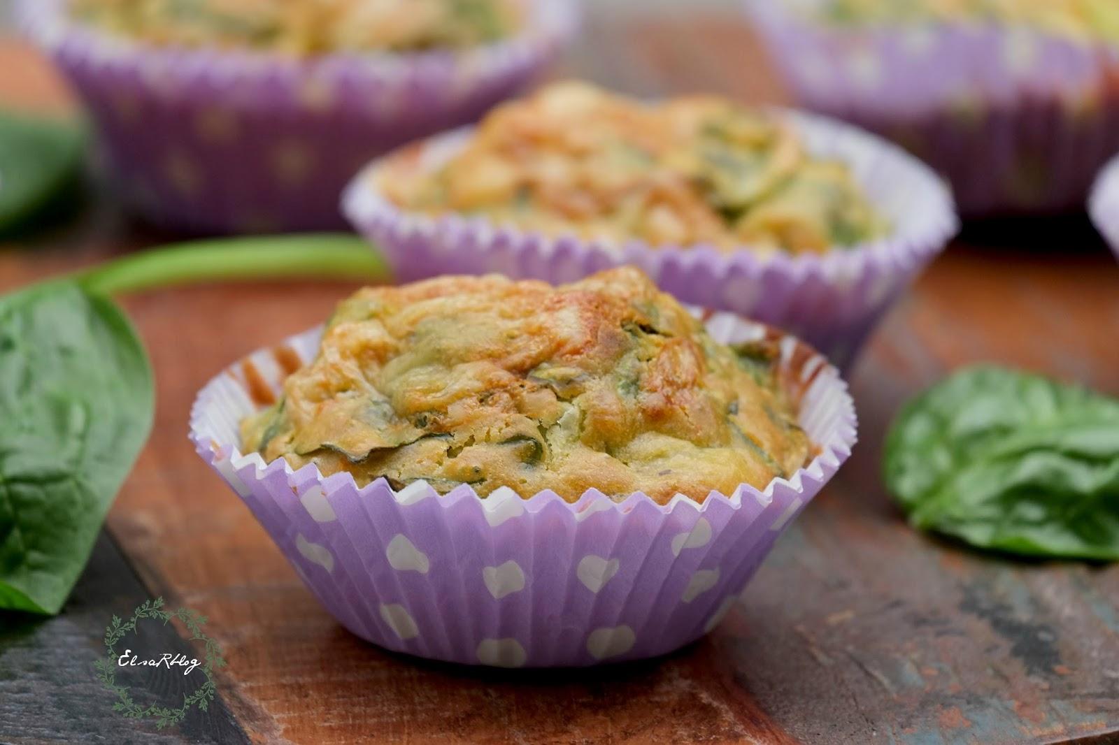Top Muffins / Cupcakes met verse spinazie en yoghurt - Hartige hapjes  #QZ19