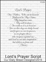 Our Daily Bread designs Lord's Prayer Script