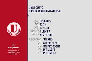PGA Tour The Genesis Invitational Eutelsat 7A/7B Biss Key 17 February 2020