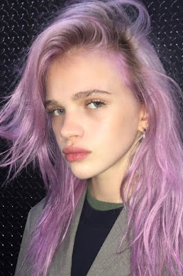 Iridescent lilac coloring hair 2018