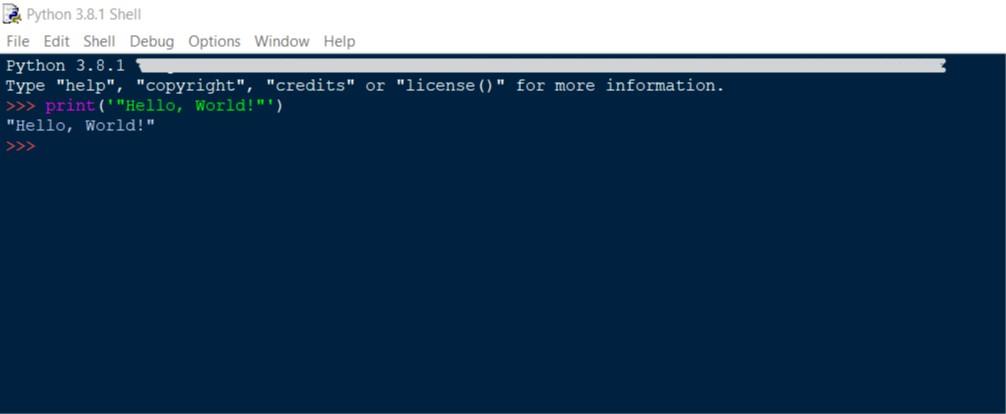 Python Hello World