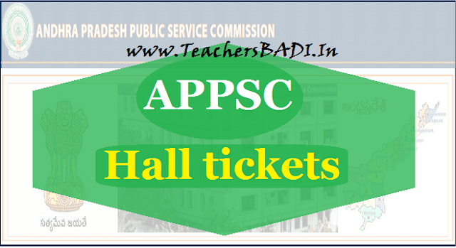 APpsc Hall tickets,APPSC Recruitment hall tickets, Download at psc.ap.gov.in