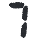デジタル数字のイラスト文字(7)