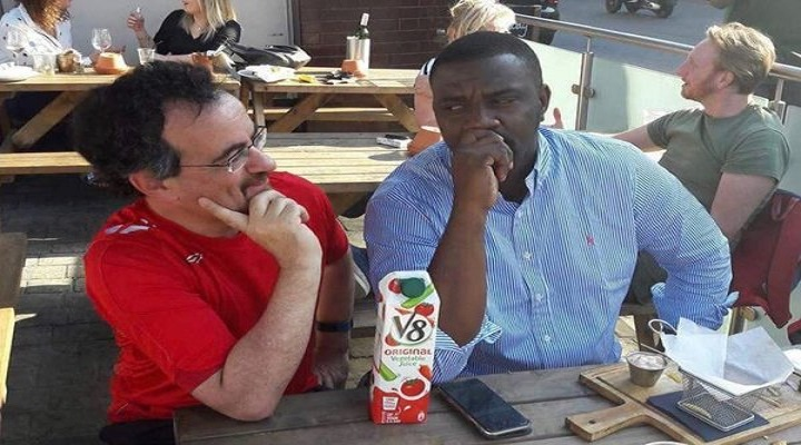 Former UK High Commissioner, Jon Benjamin And John Dumelo (Right)
