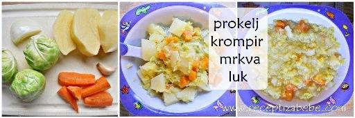 Prokelja, krompir i mrkva za bebe