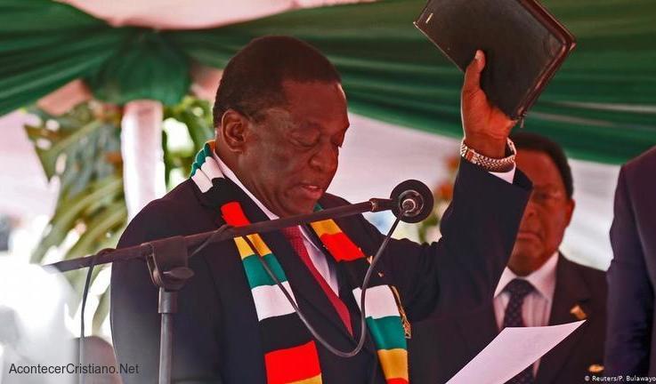 Presidente de Zimbabwe, Emmerson Mnangagwa