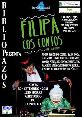 """""""FILIPA COS CONTOS"""" de FRAN CAMPOS """"BANDULLO AZUL"""""""