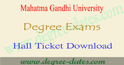 Mahatma Gandhi University degree hall tickets 2017 download mgu exams