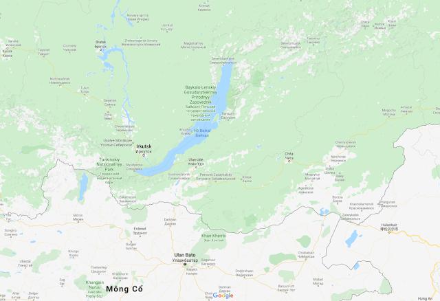 Hồ Baikal trên bản đồ của Google Map
