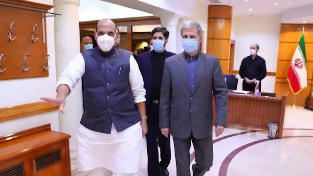 Rajnath singh meets iranian PM