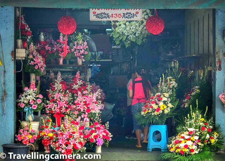 Flower Market in Bangkok is close to the famous China Market and one can reach there through bus as well as boat. This place is easily approachable through various kinds of commute option from different parts of Bangkok city.     Related Blog-post : Kata Beach, Beach walks, Thai Food & lot more at Phuket || 10-Day Vacation in Thailand (Day 5)