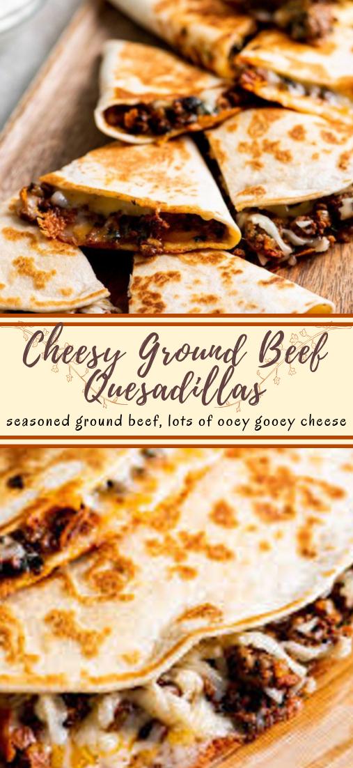 Cheesy Ground Beef Quesadillas #dinnerrecipe #food #amazingrecipe #easyrecipe