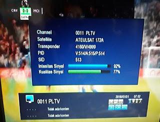 PLTV Premier League Televisi Eutelsat 172A