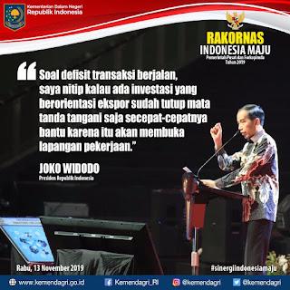 Presiden Joko Widodo Pesankan Dua Hal Dalam Rakornas Indonesia Maju Pemerintah Pusat dan Forkopimda