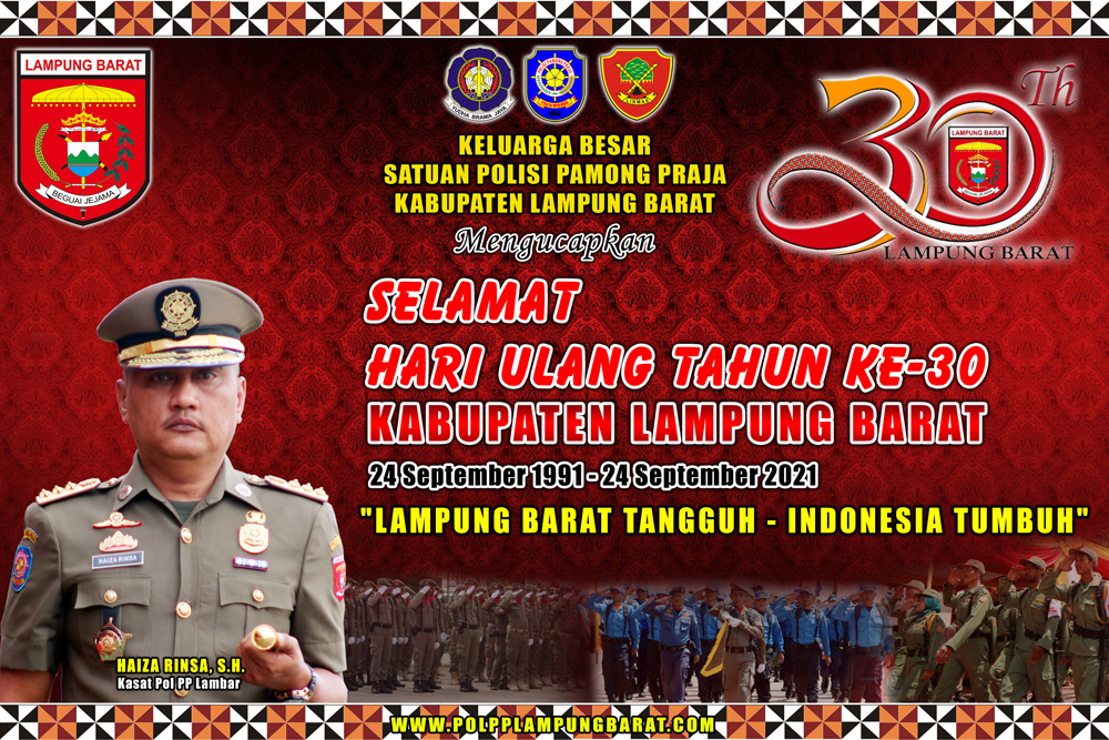 Selamat Hari Ulang Tahun Ke-30 Kabupaten Lampung Barat