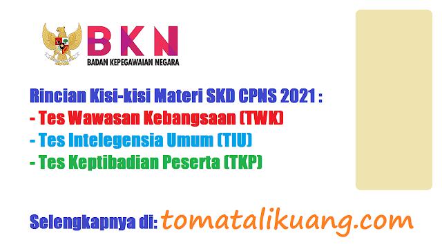 kisi-kisi materi skd cpns tahun 2021 twk tiu tkp tomatalikuang.com