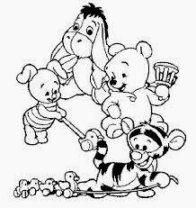 piglet and tigger coloring pages | 6 Baby Winnie The Pooh Coloring Pages