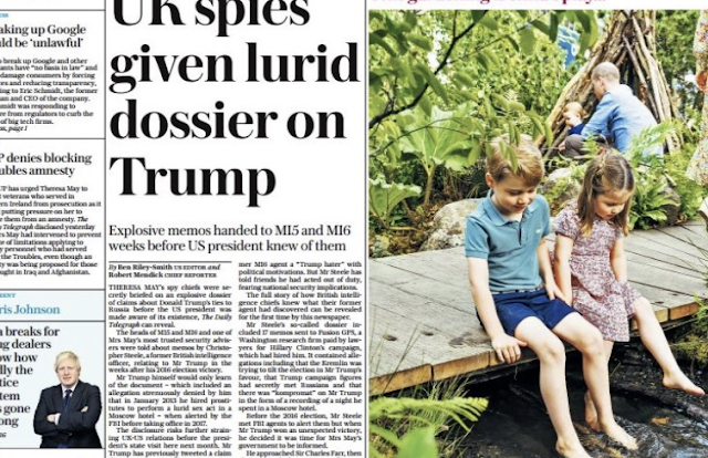 HUGE! British Spy Chiefs Were Briefed on Junk Steele Dossier BEFORE Trump Knew of It's Existence — UK WAS IN ON IT!