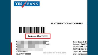 Check Customer id on Account Statement