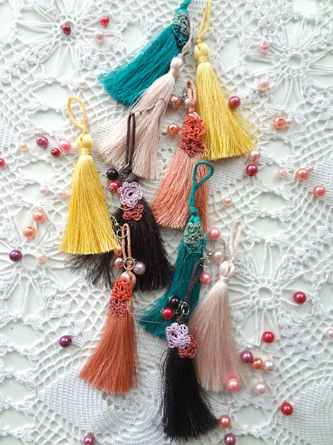 Flower Tassel Earrings DIY