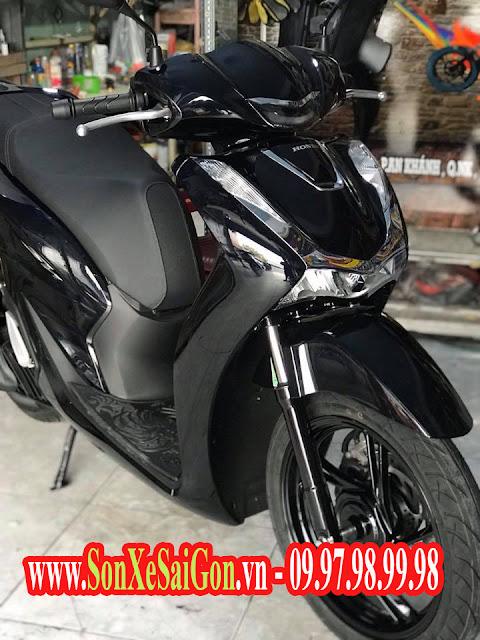 Mẫu sơn xe máy SH 2017 màu đen bóng