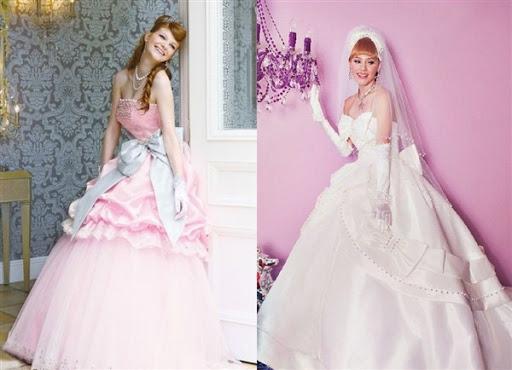 gaun pengantin ala barbie