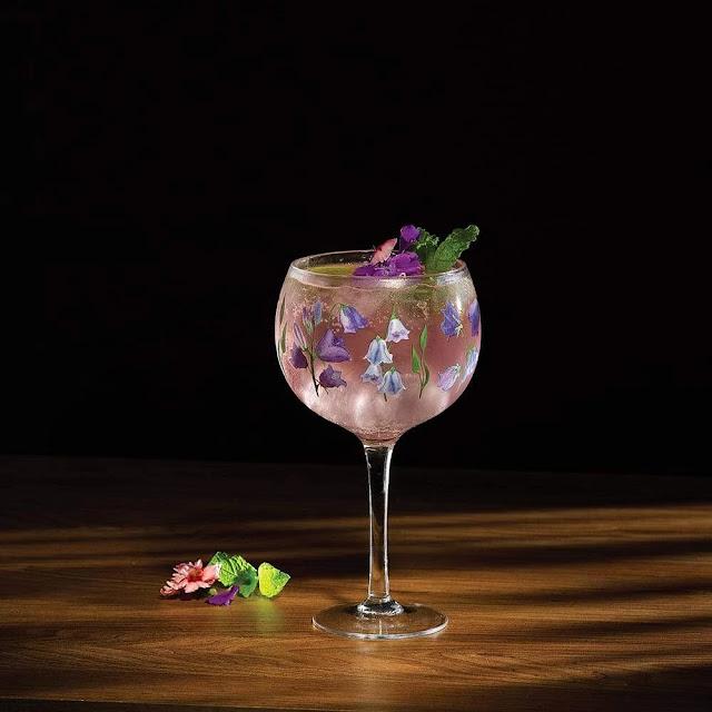 Bluebell gin glass