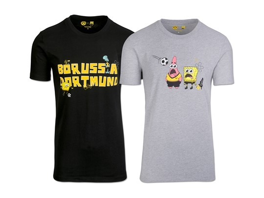 Nickalive Borussia Dortmund And Nickelodeon Announce Long Term Partnership Launch Co Branded Spongebob Apparel Collection
