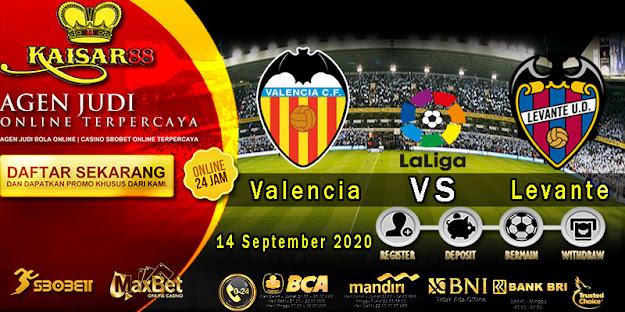 Prediksi Bola Terpercaya Liga Spanyol Valencia vs Levante 14 September 2020