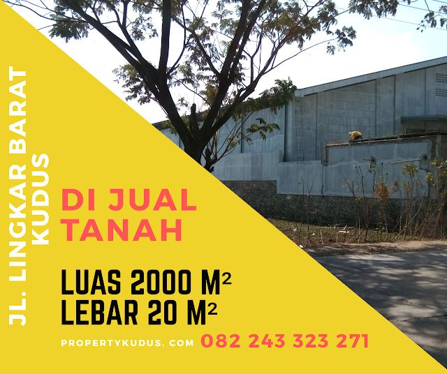 Tanah Dijual Murah Tepi Jalan Lingkar Kudus-jepara Cocok Untuk Gudang