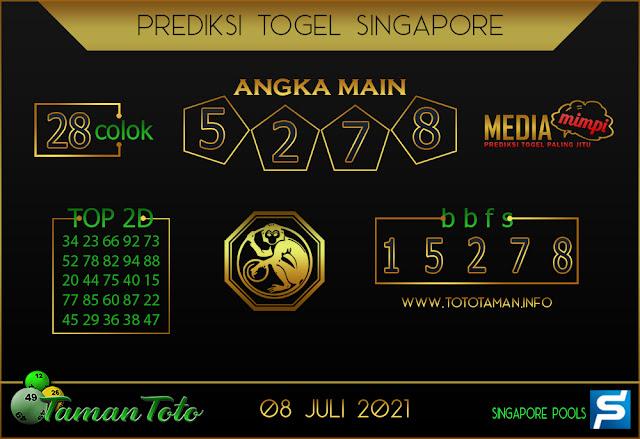 Prediksi Togel SINGAPORE TAMAN TOTO 08 JULI 2021