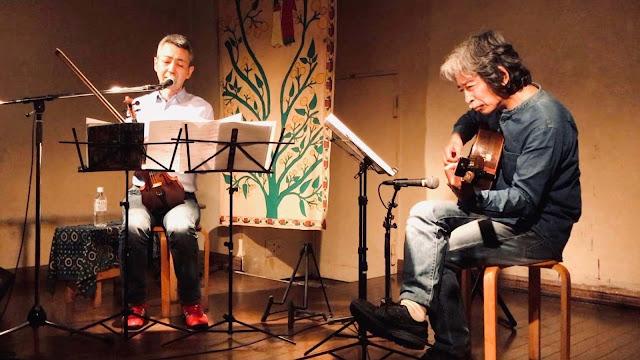 喜多直毅シンガーソングライターライヴ with 加藤崇之(ギター) 2019年5月8日@音や金時