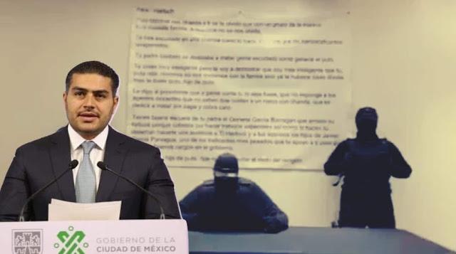 """VIDEO-. """"Cuidate rata hijo de put... que no voy a quitar el dedo del renglón"""", amenazan a Omar García Harfuch"""