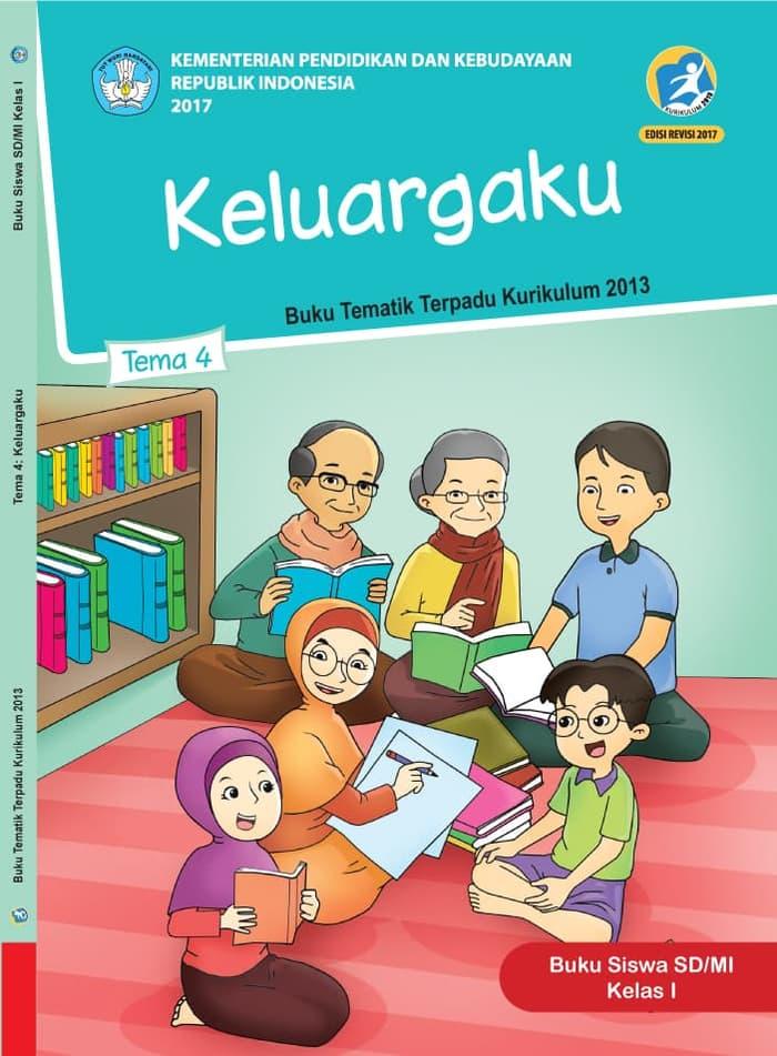Buku Siswa Tematik SD Kelas 1 Tema 4 Keluargaku