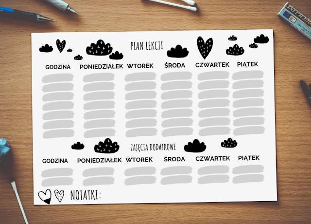 plan lekcji dla ucznia do pobrania