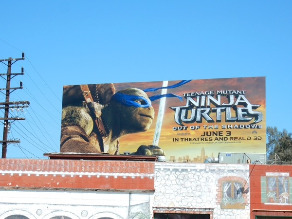 Ninja Turtles Out of the Shadows movie billboard