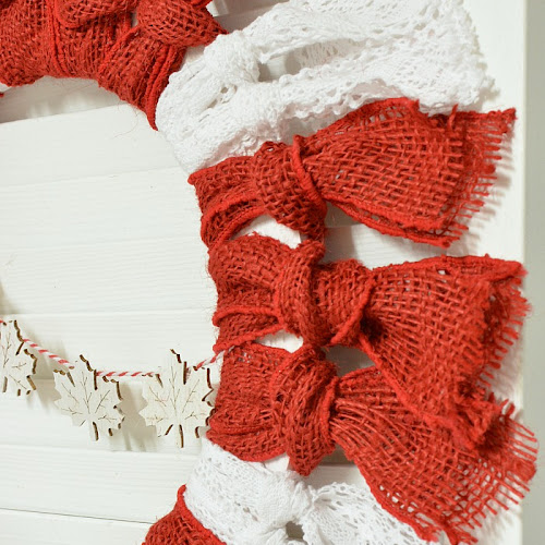 How To Make An Easy Peasy Canada Day Ribbon Wreath