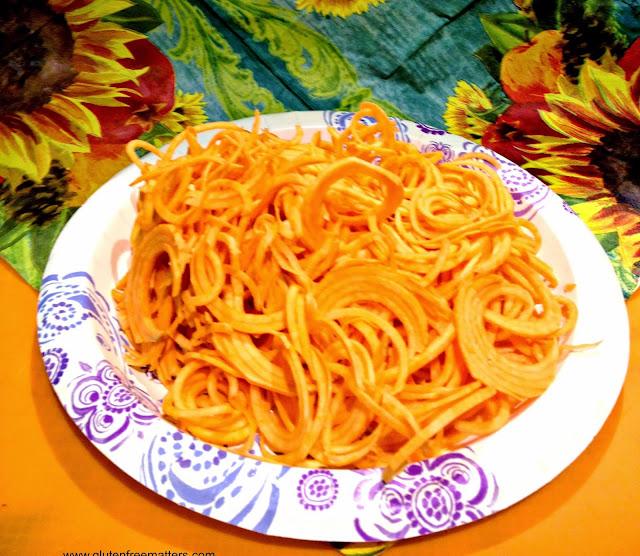 sweet potato spiralized
