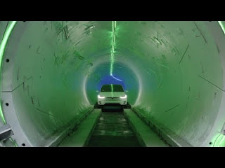 Elon Musk Hyperloop tunnel for future transportation