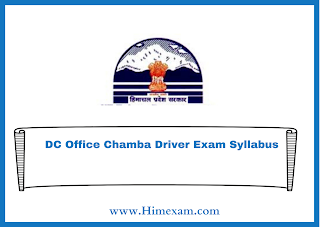 DC Office Chamba Driver Exam Syllabus